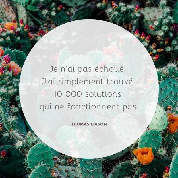 Citation inspirante Echec par Elise Fauvel